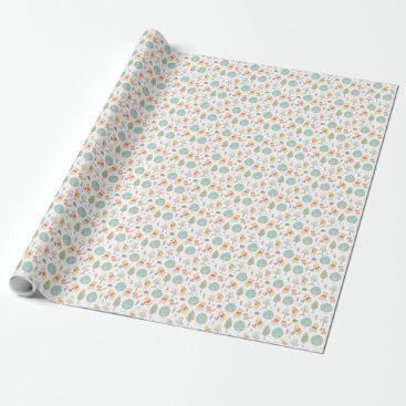 Winnie the Pooh | Cute Woodland Animals Pattern Wrapping Paper