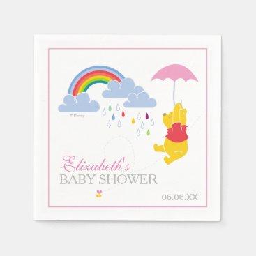 Winnie the Pooh | Girl Baby Shower Paper Napkin