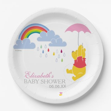 Winnie the Pooh | Girl Baby Shower Paper Plate