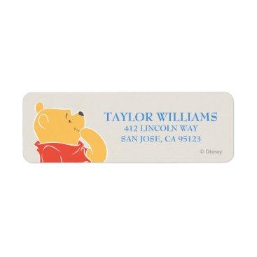 Winnie the Pooh | Happy Birthday Label
