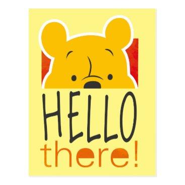 Winnie the Pooh Peeking - Hello There Postcard
