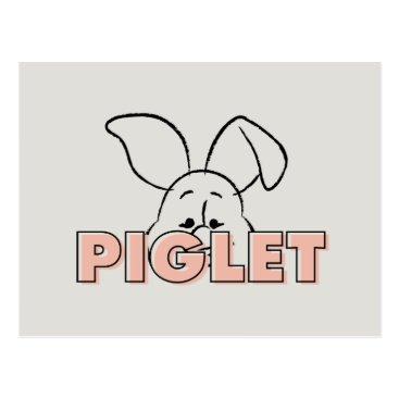 Winnie the Pooh | Piglet Peek-A-Boo Postcard