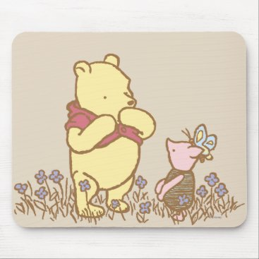 Winnie the Pooh | Pooh and Piglet in Field Classic Mouse Pad