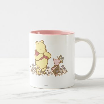 Winnie the Pooh | Pooh and Piglet in Field Classic Two-Tone Coffee Mug