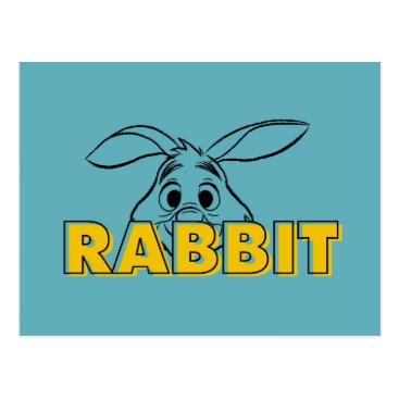Winnie the Pooh | Rabbit Peek-A-Boo Postcard