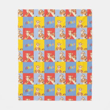 Winnie the Pooh | Tigger Bright Mosaic Pattern Fleece Blanket