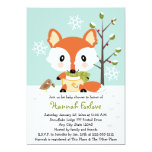 Winter Baby Fox in Diapers Baby Shower Invitation