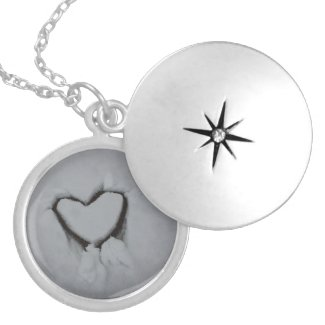 Winter Love - Heart in Snow Lockets