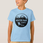 Winter Park Colorado blue boys snowboard art tee
