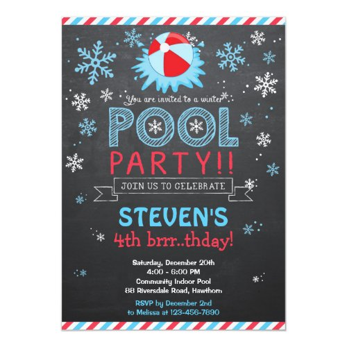Winter Pool Invitation / Winter Pool Invite