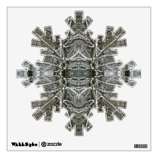 Winter Snowflake Christmas Holiday Wall Art Wall Graphic