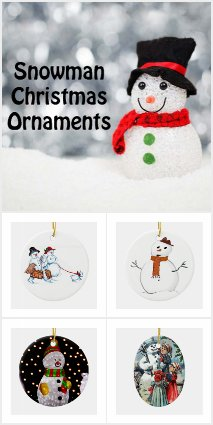 Winter Snowman Christmas Ornaments