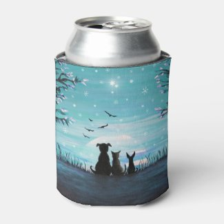 Winter Sunset Can Cooler