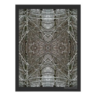 Winter Symmetry Abstract Art Poster Print print