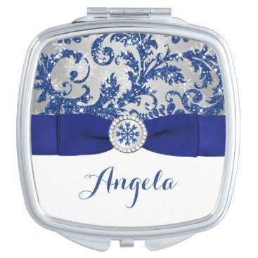 Winter Wonderland, PRINTED Buckle Compact Mirror For Makeup