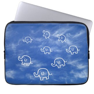 Wispy Cloud Elephants Laptop Sleeve