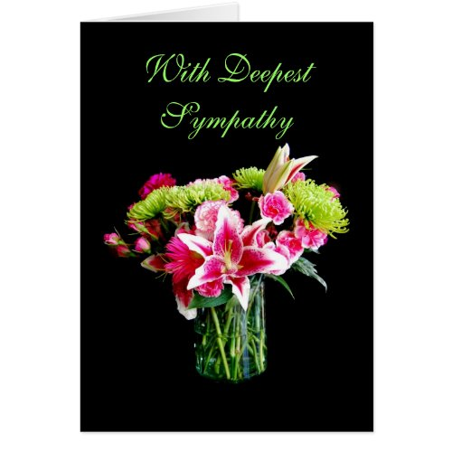 With Deepest Sympathy, Stargazer Lily Bouquet Cards