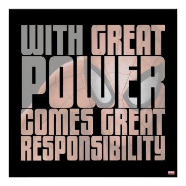 With Great Power Comes Great Responsibility Poster