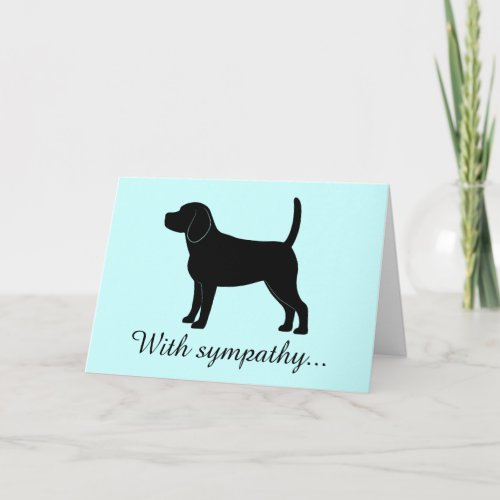 With Sympathy Beagle Card