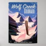 Wolf Creek Colorado Ski poster