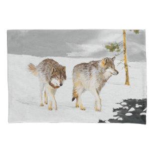 wolf pillowcases shams zazzle