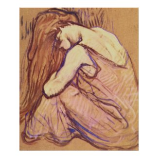 Woman Combing her Hair by Henri de Toulouse-Lautre Posters