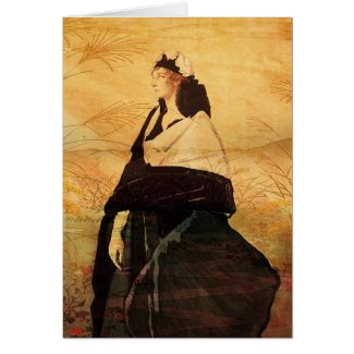 Woman in Black Greeting Card