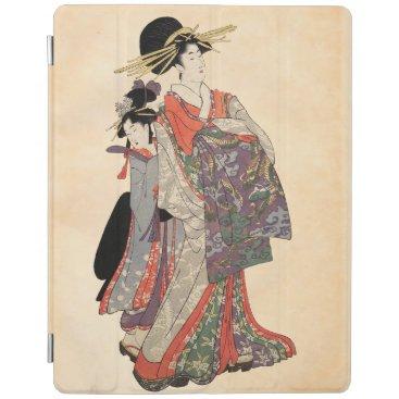 Woman in colorful kimono (Vintage Japanese print) iPad Smart Cover