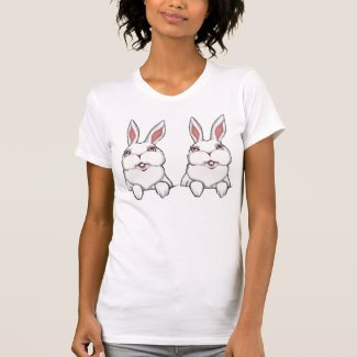 Women's Bunny T-shirt Bunny Rabbits  Ladies Shirt