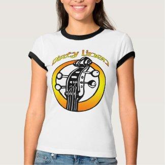 Women's Dirty Linen logo orange & yellow shirt