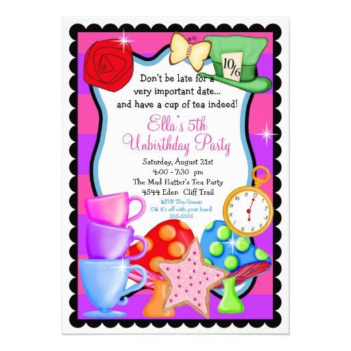Mad Hatter Tea Party Invitations With Divine Appearance For Invitation Design Ideas 16
