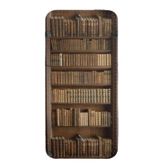 Wood Bookshelf w/ Books Iphone5 Pouch