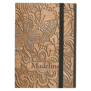 Wood Carvings Floral Pattern Personalized Case For iPad Air