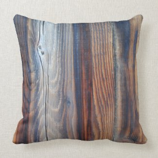 Wood grain detail pillow