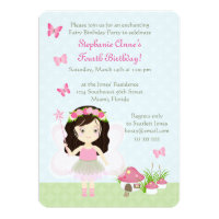 Woodland Fairy Princess Card