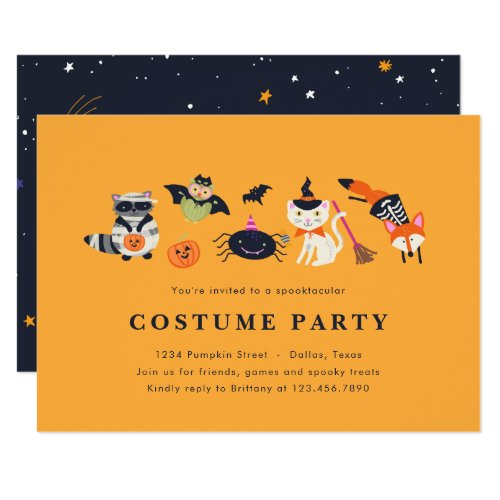 Woodland Trick or Treaters Invitation