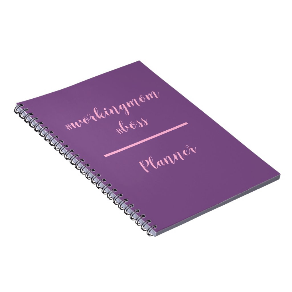 Workingmom Boss Hashtag Planner Notebook