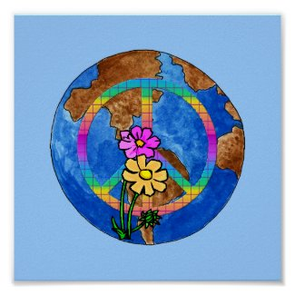 World Peace Colors print