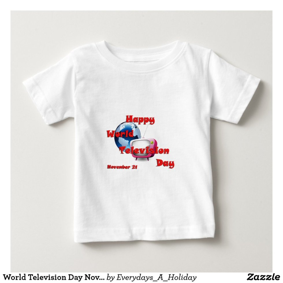 World Television Day November 21 Baby T-Shirt