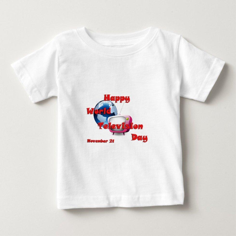 World Television Day November 21 Baby T-Shirt