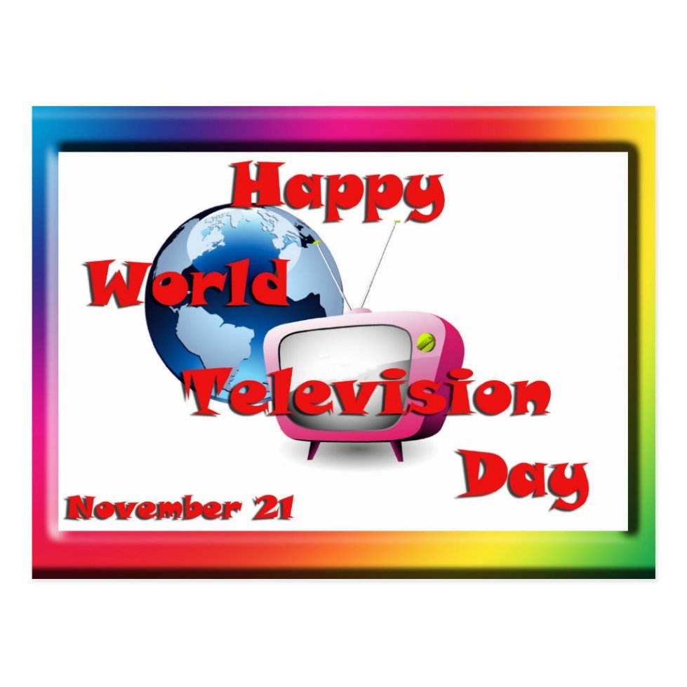 World Television Day November 21 Postcard
