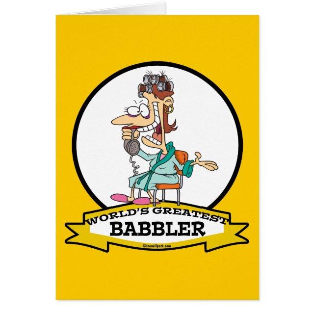 WORLDS GREATEST BABBLER WOMEN CARTOON CARD