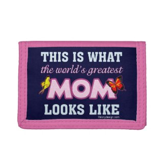 World's Greatest Mom Tri-fold Wallets