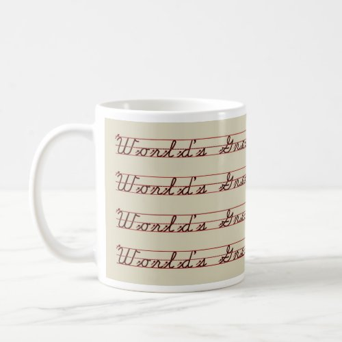 World's Greatest Teacher Writing Lesson Coffee Mugs