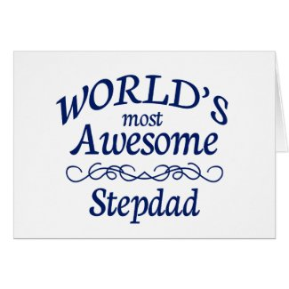 World's Most Awesome Stepdad Card