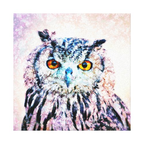 Wrapped Canvas Art - Owl Mixed Media