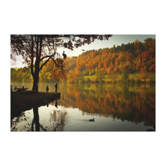 Wrapped Canvas Fine Art Fall Colors Reflections Canvas Print