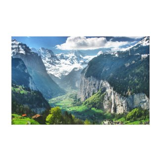 Wrapped Canvas Fine Art Print of Switzerland Canvas Print