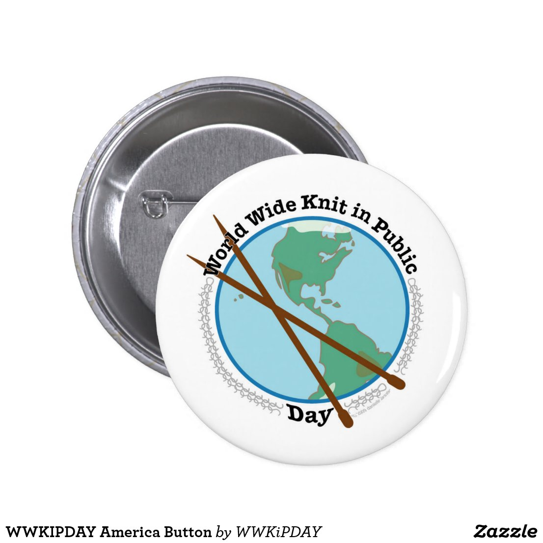 WWKIPDAY America Button