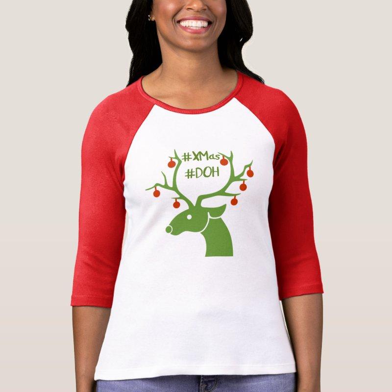 #Xmas #DOH hashtag tshirt